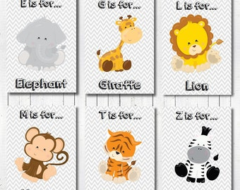 Baby Boy Nursery Art, Jungle Nursery Decor, Baby Nursery Decor, Baby Boy Gift, Nursery Jungle Print, Jungle Nursery Wall Art, Custom Print