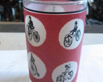 Bicycle drinking glass set, Vintage cycling!