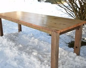 Reclaimed Wood Farmhouse Dining Table, Kitchen Table, Conference Room Table