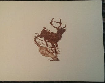Bulk Pack of 6 Reindeer Christmas Cards - Blank Inside