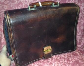 Anni70 leather Briefcase bag