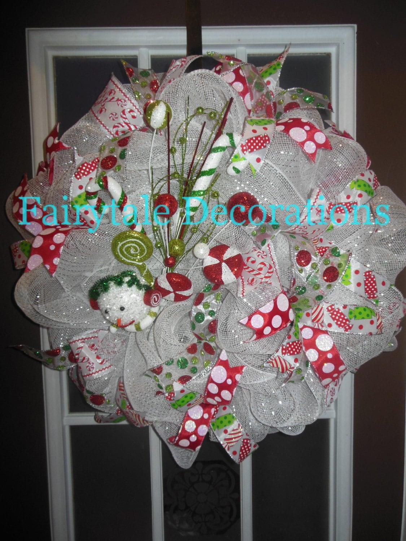 CLEARANCE - Let it Snow Deco Mesh Wreath