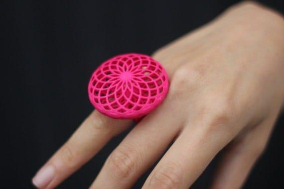 Geometric Blossom 3DPrinted Ring