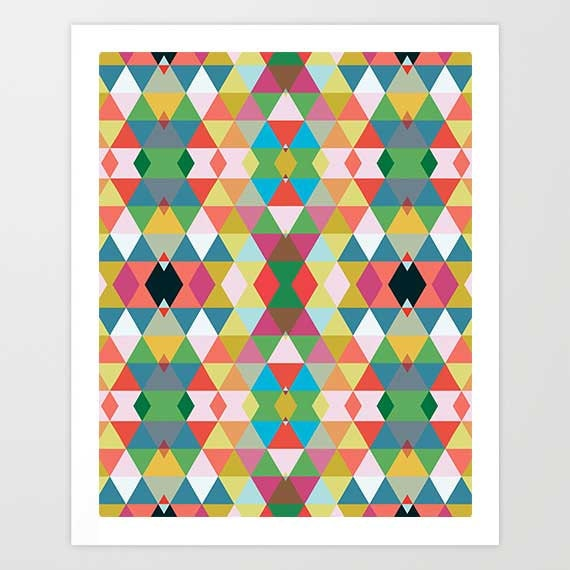 Wall Art Prints Download : Modern geometric art print bedroom wall by