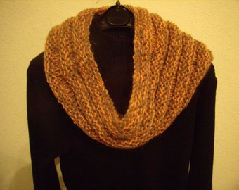snood scarf circular beirge and orange