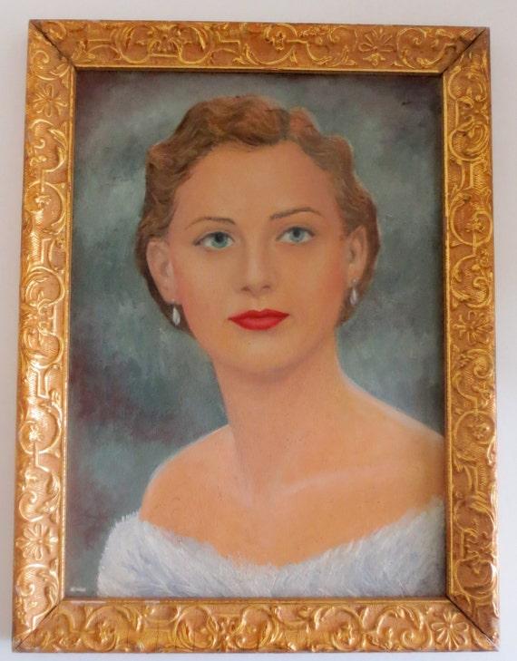 Vintage Paintings Of Women Vintage Oil Pai...