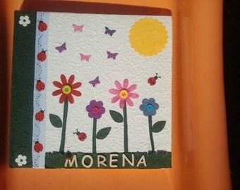 custom album covered in natural paper