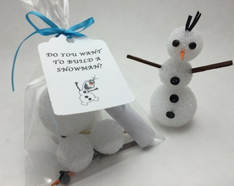 Frozen Party Favors, Do You Want to Build a Snowman Craft Kit, Classroom Gift - Christmas, Valentines Craft Favors, Stocking Stuffers
