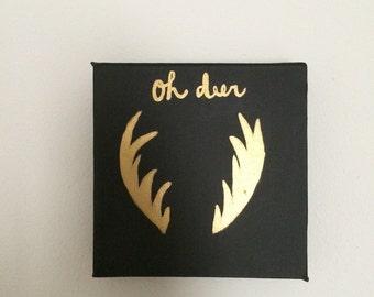 Gold Deer Painting