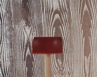 Cool wood grain print the wall decoration, simple painting the wall tool wood graining pattern brush