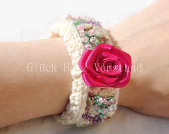 "Crochet bracelet, crocheted bracelet, Bangle ""Fairytale"""