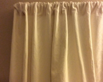 "Beautiful Handmade 2 panels of Cream Natural Linen Window Curtains.  52"" x 84"" each 3"" Rod Pocket,  2"" Bottom Hem"
