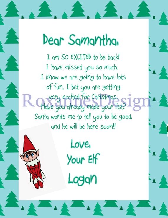 Printable Letters From The Elf On The Shelf | Search Results ...