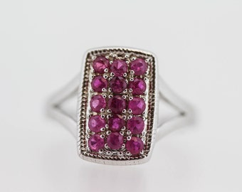 925 Shades of Ruby Ring