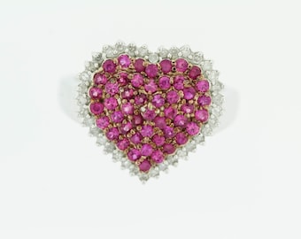 Pink Sapphire and Diamond Ring .