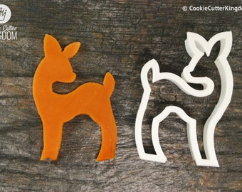 Baby Deer Cookie Cutter, Mini and Standard Sizes, 3D Printed