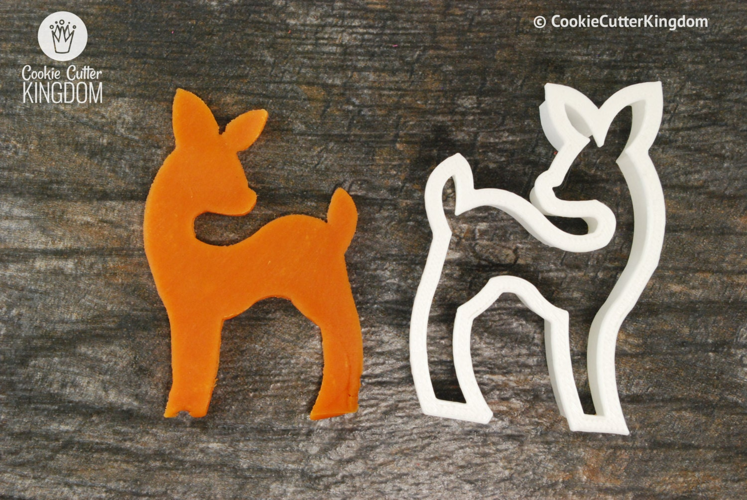 baby deer cookie cutter mini and standard sizes 3d printed