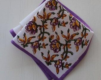 Vegetable dyed hand Block printed Napkin table linen napkin organic cotton fabric napkin floral pattern cloth napkin eco friendlay napkin