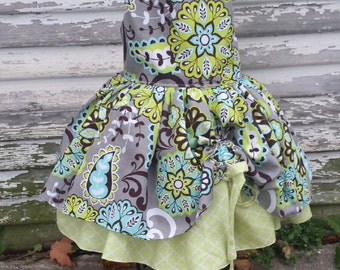 Green Floral Peekaboo Dress