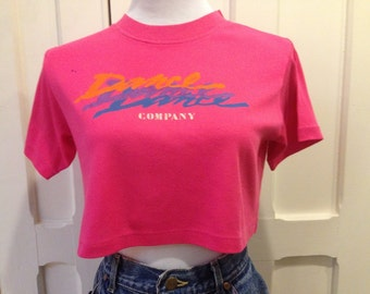 80s Cropped Dance Tee