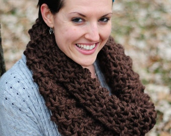 Outlander cowl, Hand knit cowl, brown cowl, snood scarf, ,gift for her, Christmas gift, accessories