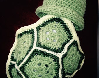 Turtle infant photo prop