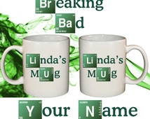 Breaking Bad Mug Your Name Text Gift Idea Personalised Birthday Walter White 11oz Mug Great Xmas Grad Dad Gift Personalized Collectable
