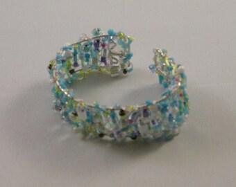 Beaded Cuff Bracelet 'Serenity'