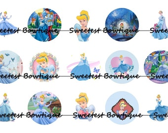 Cinderella Instant Download 1 inch bottle cap images