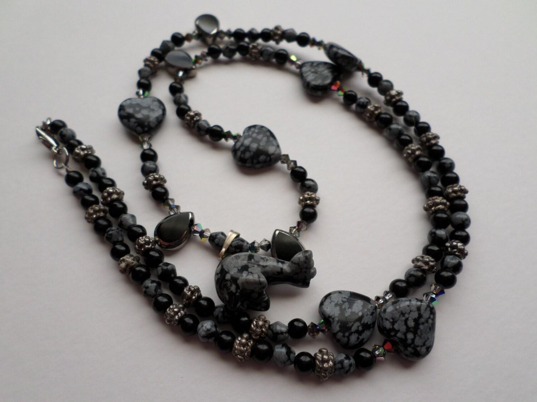 SnowFlake Obsidian Nec...