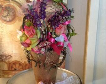 One Sweet Spring Terracotta Flower Arragment