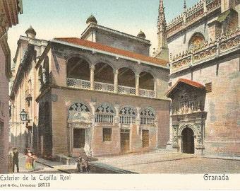 Exterior de la Capilla Real - Granada, Spain - c.1915 Unused Postcard