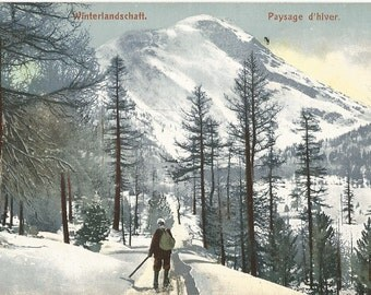 Winterlandschaft - Paysage d'hiver,  Switzerland - 1909 Postally Used Postcard