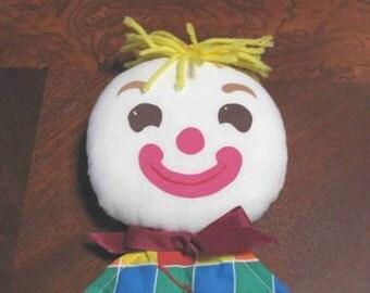 New Vintage Handmade Clown Security Blanket