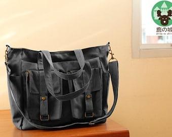Sale 10% - Gray handbag, Diaper  bag, Shoulder bag, tote, Messenger bag, Brownie