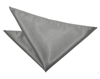 Satin Platinum Handkerchief / Pocket Square