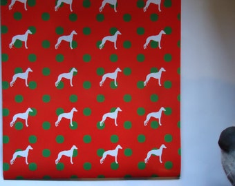 Whippet Gift Wrapping Paper.       Buy One Get One Free