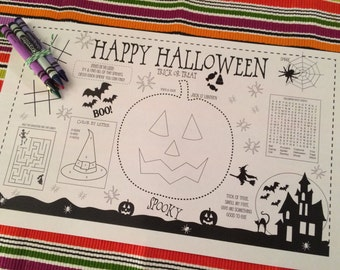 HALLOWEEN- Kids activity placemat- Digital file only