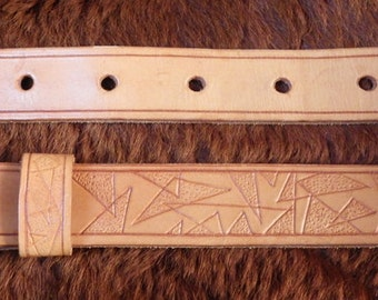 A handmade leather belt by GoodHiding of Chester