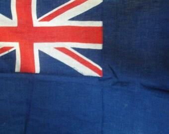 Vintage flag, the Blue Ensign, original flag, England, 1930s