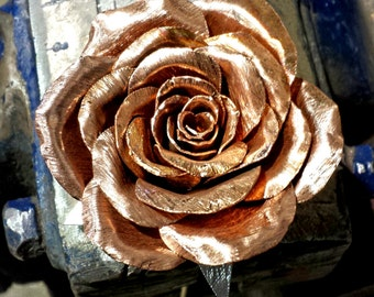 Everlasting copper rose w/ Personal Message. A beautifully handcrafted flower, trapped in time.
