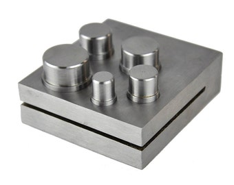 """5 PC 1/2""""-1"""" Circle Round Disc Disk Cutter Punch Tool For Stamping Blanks Gold Silver Metal Coins Jewelry"""