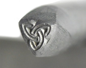 "Triquetra Trinity Knot Steel Stamp 1/16"", 1.5 mm. 1/8"", 3.175 mm, 3/16"", 5 mm, 1/4"", 6.35 mm, 3/8"", 9.5mm Hand Press Jewelry - STMP-0001"
