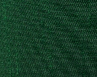 Hunter Green-142 Silk Dupioni Shantung Fabric 100% Polyester for Apparel Home Decor By the Yard