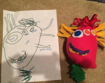 Toy created from your child's drawing