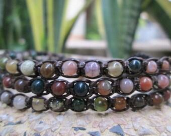 Fancy Jasper 3 wrap bracelet