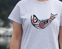 Haida Salmon Art Women's Nautical T-Shirt