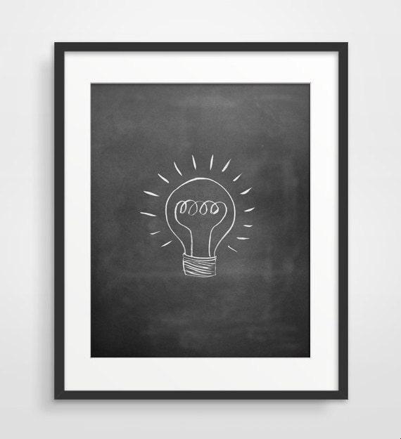 Items Similar To Geek Art Lightbulb Poster Wall Decor