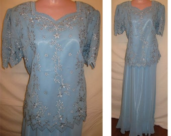 Light blue blouse #1685