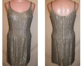 Short gray beaded dress
